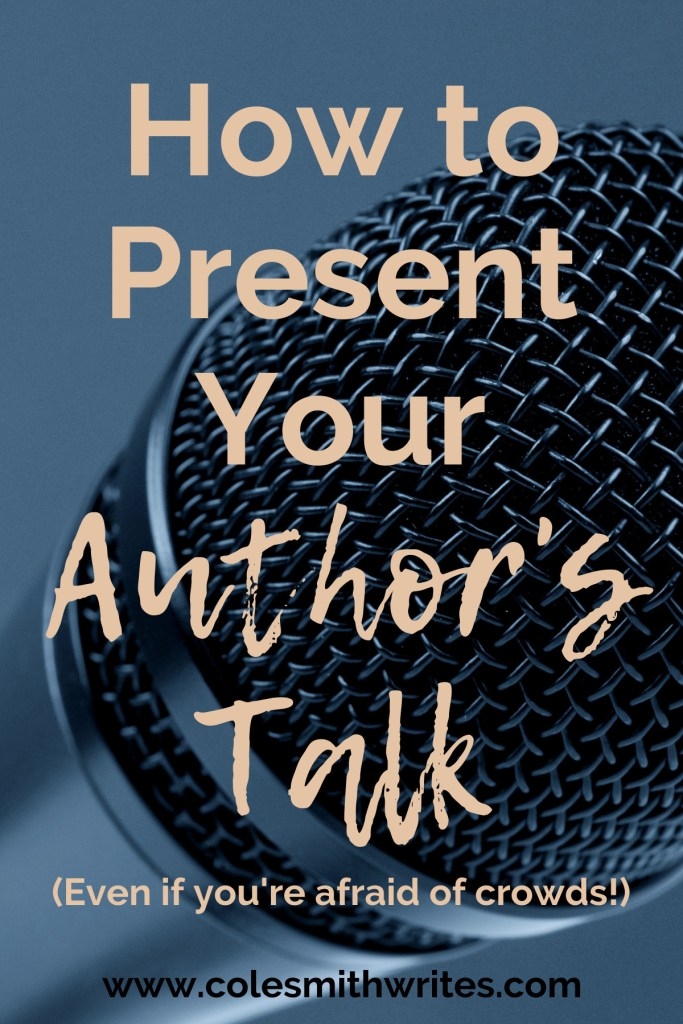 Want to know how to present your author's talk, even if you hate public speaking? #writers #screenwriters