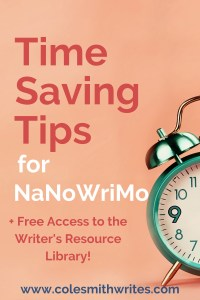 Time Saving Tips for NaNoWriMo | Time Blocking | #timemanagement #productivity