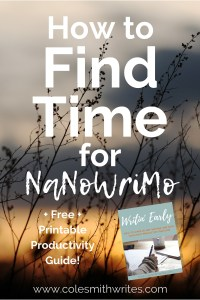 Want to do NaNoWriMo but don't know how you'll find time? | #creatives #creativity #writing #authors #readers #writers #writersunite #productivityplanner #writinghelp #writingtips #fiction #writinginspiration #writingplanner #indieauthors #selfpublishing #noveltips #authortips