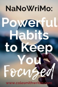 During NaNoWriMo, do you want powerful habits to keep you focused on writing? |