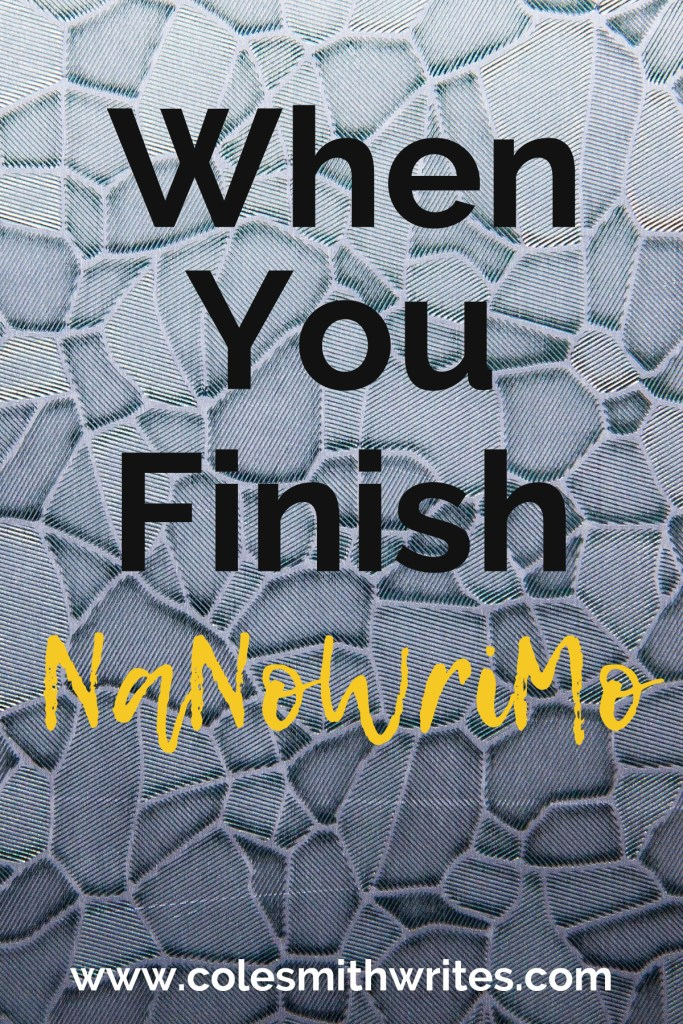 What to do when you finish NaNoWriMo ... ? | #motivation #inspiration