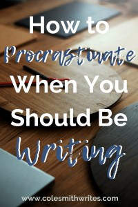 Find out the most productive way to procrastinate when you should be writing: |