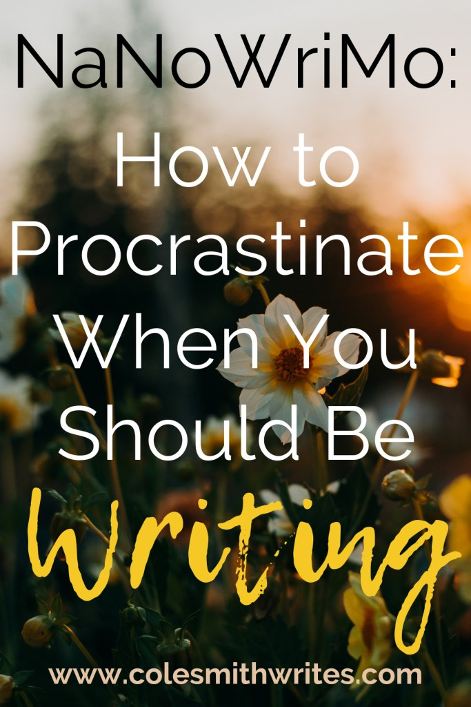 Want to know the right way to procrastinate when you should be writing during nanowrimo? | #indieauthors #indiepublishing #writingtips #fiction
