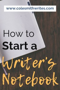 Here's a quick and easy way to start a writer's notebook | #planner #books #writestuff #writing #authors #readers #writingtips #fiction #indie #publishing #advice #tricks #writinghelp #writingadvice #novel #nonfiction #writersblock #writerquotes #diary #logbook #motivation #inspiration #plot #characters #prompts #hacks #diy #composition #pantser #journaling #bujo #memoir #fantasy #setup #newyear #aesthetic #creative #selfpublishing #selfpub #beginners #productivity #organize #system #planwithme