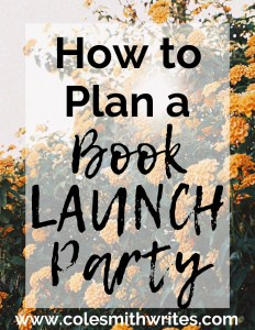 Congratulations! Here's how to plan a book launch party: | #indieauthors #selfpublishing