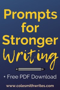 Short on time? Try these prompts for stronger writing: | #motivation #inspiration #novel #craft #indieauthors #indiepublishing #authors #readers #writers #workshop #writingtips #writingadvice #writersunite #amwriting #writinglife #writersblock #writinghelp #creative #fiction #course #writingcommunity #writerquotes #printable #pdf #worsheets #creative #learning #skills #exercises #activities