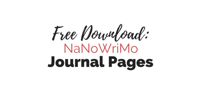 Free Download: NaNoWriMo Journal Pages