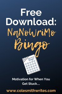Free Download: Try this NaNoWriMo Bingo game when you get stuck