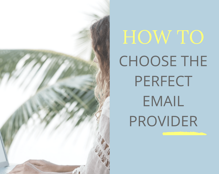 how to choose an email provider