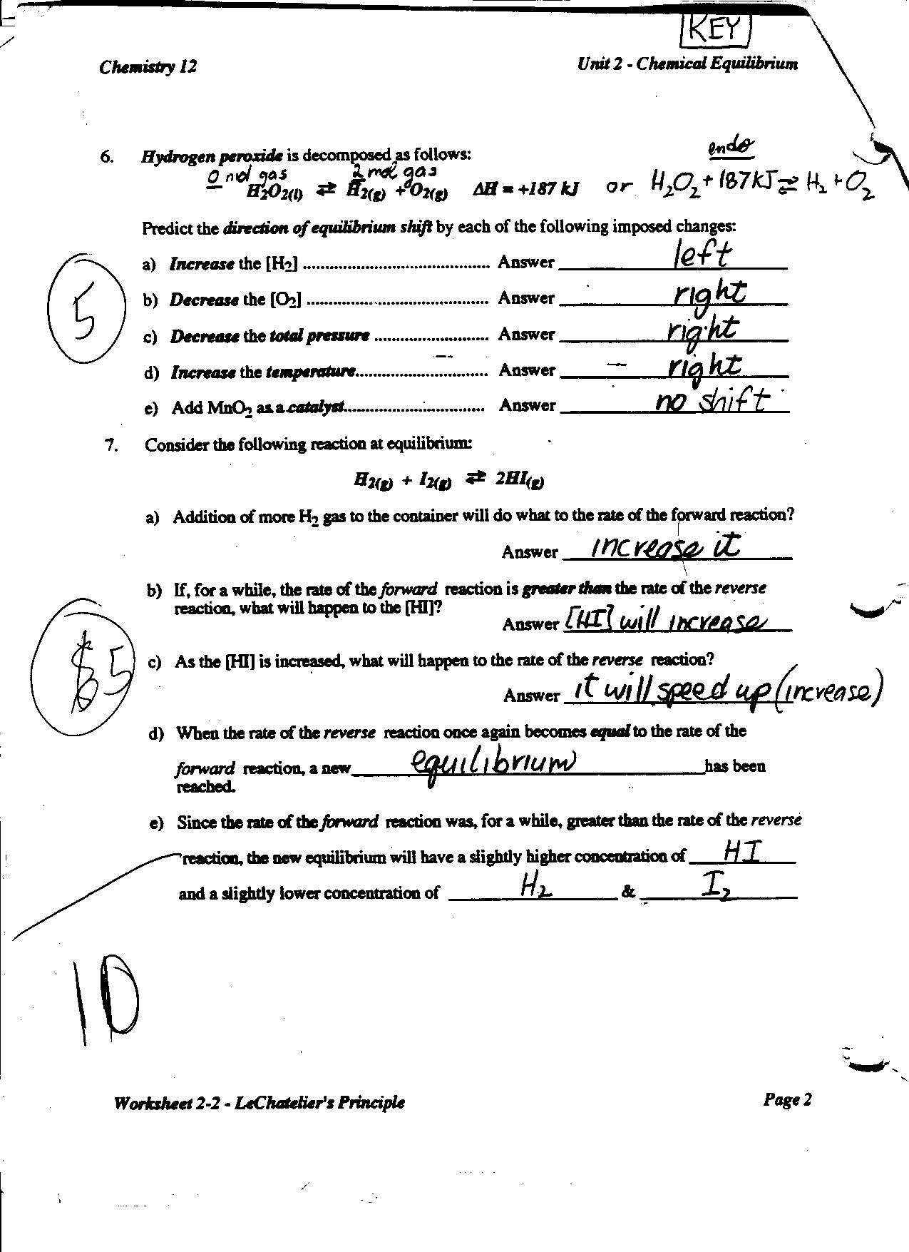 33 Chemistry Unit 10 Worksheet 2 Answers