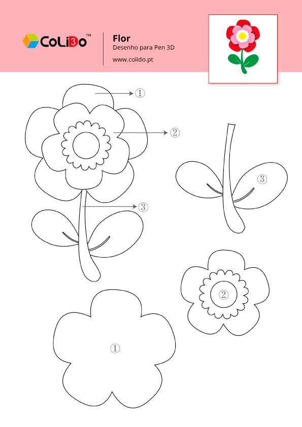 CoLiDo-3d-pen-modelo-flor-pro