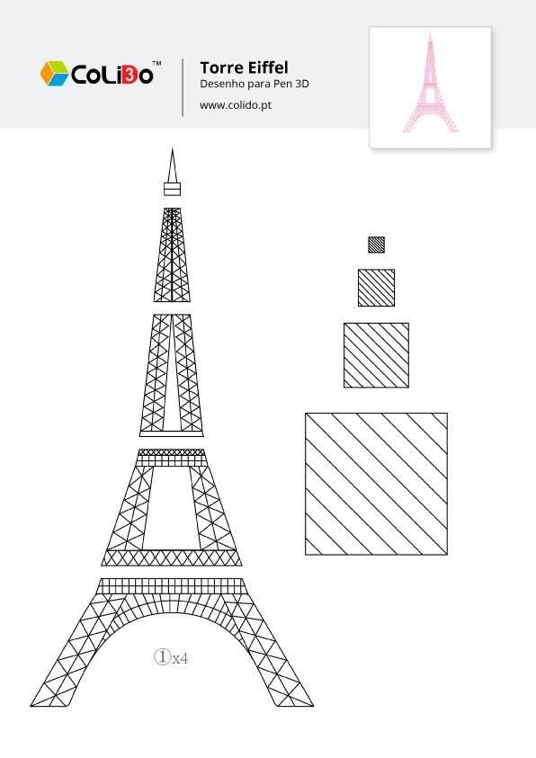 CoLiDo-3d-pen-modelo-torre-eiffel