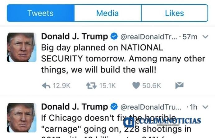 Trump Twitter Muro