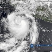 """""""Dora"""" llegaría a Huracán 1 frente a la costa de Manzanillo"""