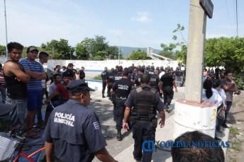policías conato en elección