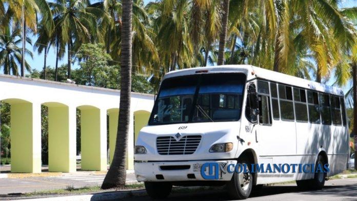 camiones urbanos colima 696x392 - Vislumbra Sintra afectaciones y descontrol con descuento universal
