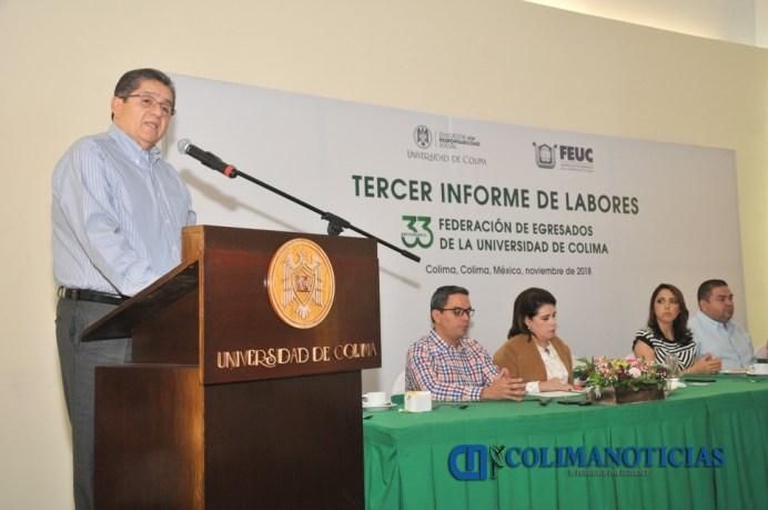 Informe de la FEUC, Rector José Eduardo Hernández Nava PRINCIPAL