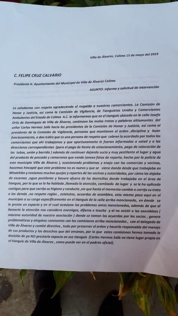 Evangelina Villaseñor documento 576x1024 - Felipe Cruz quiso pacificar situación de tianguistas: Directora de Licencias