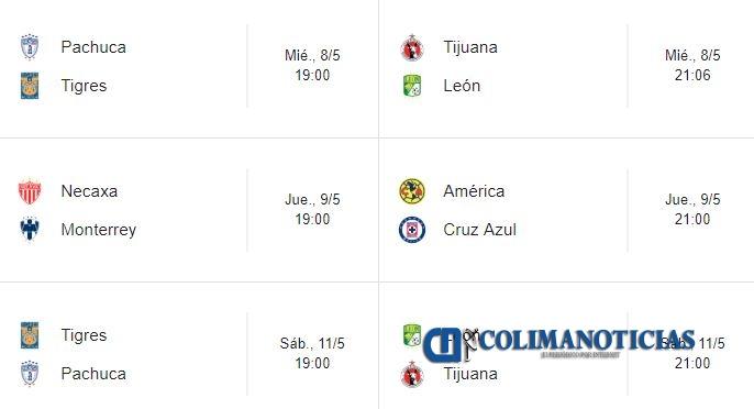 Liga-MX partidos de cuartos