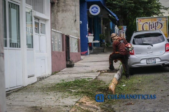 limpieza colima 696x464 - Se avanza en la limpieza de las colonias en el Municipio de Colima