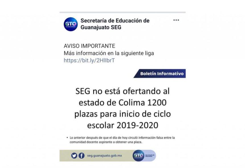Secretaria de Educación de Guanajuato desmiente que oferte mil 200 plazas a Colima 1024x702 - Secretaría de Educación de Guanajuato se echa para atrás para ofertar mil 200 plazas a Colima