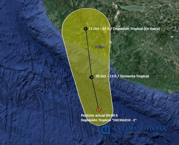 lluvia tromenta 696x564 - «Priscilla», dejará lluvias intensas en Colima