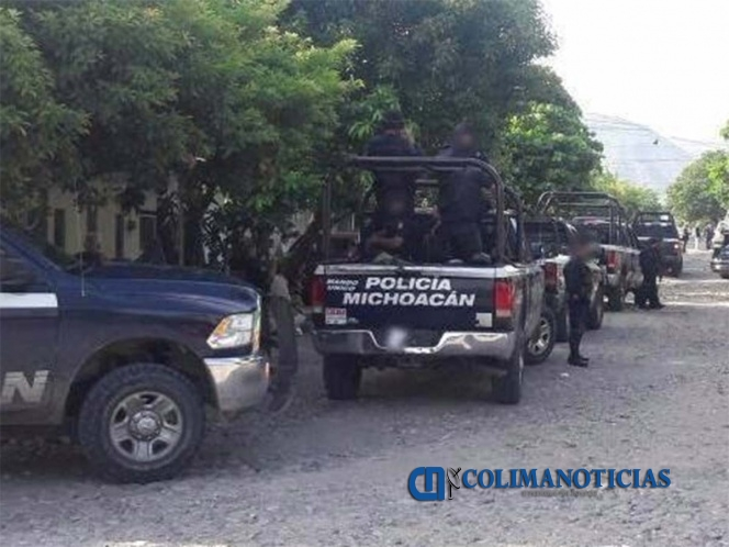 policia de michoacan - Policías fueron emboscados en la entrada a Aguililla, en Michoacán