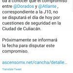 suspenden partido  150x150 - Balaceras en Culiacán obligan a suspender partido Dorados contra Atlante