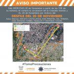 Operativo vial desfile 20 de noviembre 150x150 - Recolección de basura en la capital se llevará a cabo de manera habitual en día no hábil