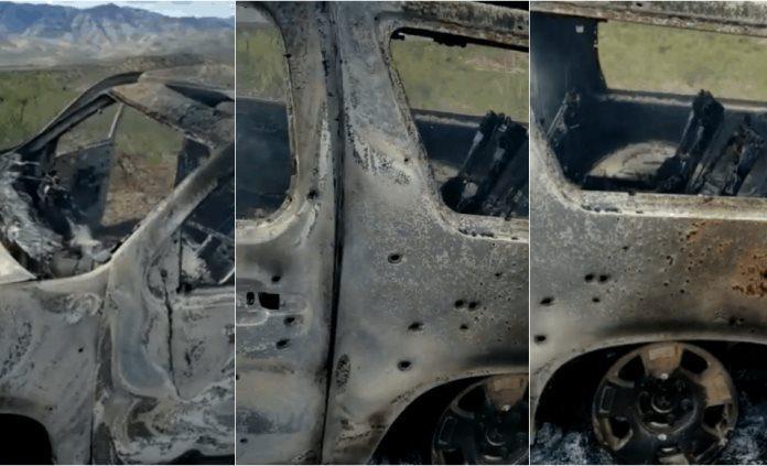 comando mata a familia 696x423 - Comando asesina en emboscada a familia LeBarón en Chihuahua (video)