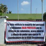 protesta vs usae cuauthémoc 150x150 - Denuncian acoso laboral y abuso de poder de encargada de USAE Cuauhtémoc
