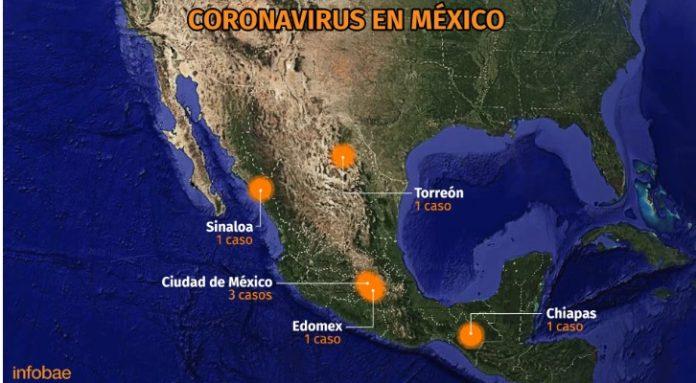 coronavirus en mexico 696x383 - Los efectos del Covid-19 en la economía mexicana; van siete casos confirmados - #Noticias