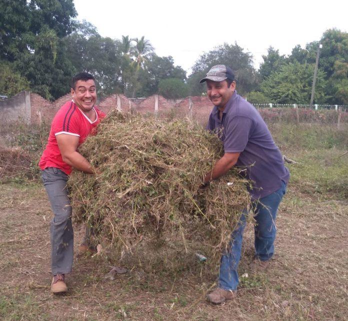 limpian la zona de tolerancia de armeria2 696x643 - Se suma el regidor Alfredo Maldonado a la limpieza de zona de tolerancia de Armería - #Noticias