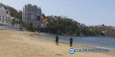 Policías estatales continúan recorriendo balnearios y sitios turísticos