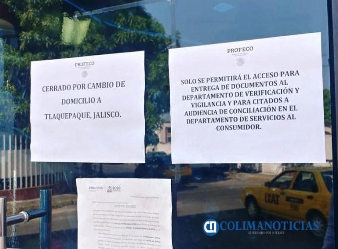 Profeco cierra sus puertas en Colima