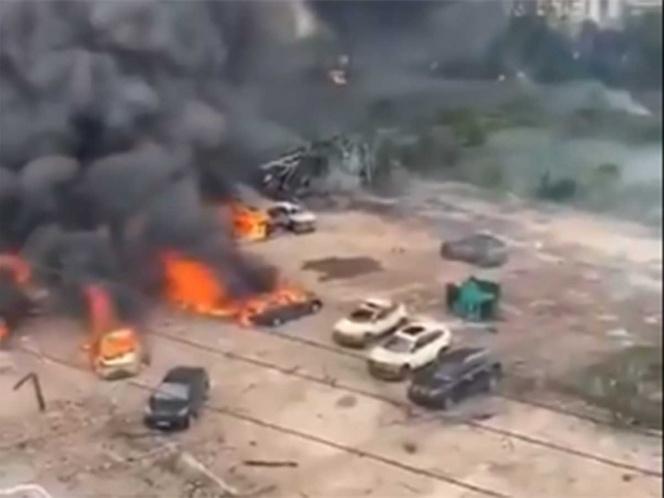 explosion en china