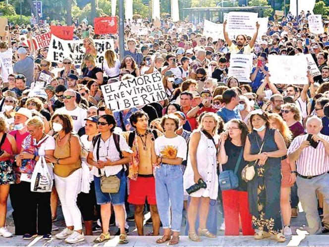 protestan contra medidas covid en madrid