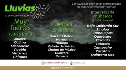 Se pronostican fuertes lluvias en Colima, Jalisco, Michoacán1