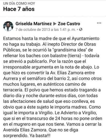 Viralizan comentario de hace 7 años de la actual presidenta de Manzanillo