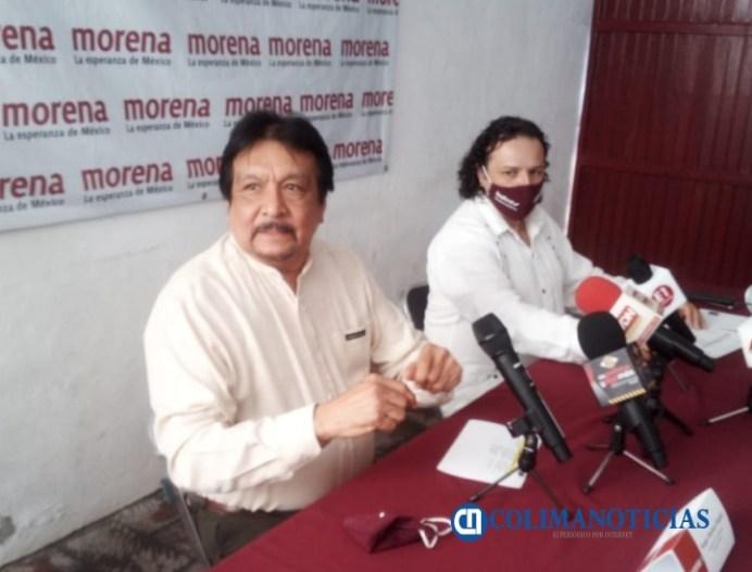 Morena Colima - Sergio Jiménez Bojado y delegado
