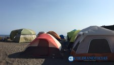 casas de campaña en playas - turismo