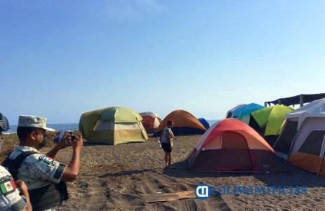 retira GN casas de campaña en playas - turismo