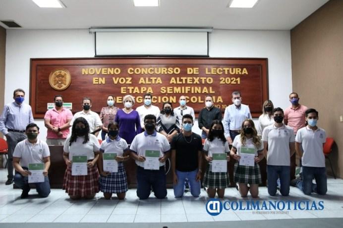 Etapa final en la Delegación Colima del 9 Concurso de Lectura en Voz Alta