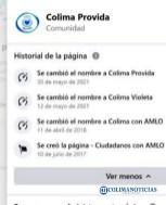 Facebook vinculado a Morena Colima ahora apoya a Mely