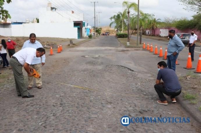 Felipe Cruz pone en marcha pavimentación de Avenida de los Reporteros