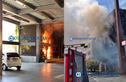 Se incendia estructura de estacionamiento de La Marina San Fernando 21