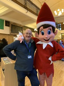 Elfie and me at the School Christmas Fayre