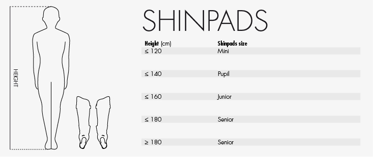 Reece shinguard size guide