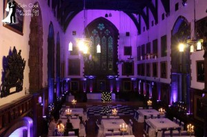 Black & White Checkerboard Dancefloor at Durham Castle