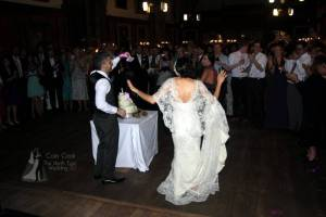 Iranian Bride & Groom do the Persian Knife Dance prior to cutting their cake at their amazing Durham Castle Wedding Disco
